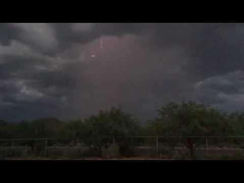 Crazy lightning Tucson Arizona