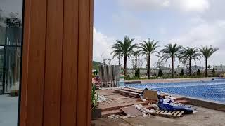 Hồ bơi, công viên đang dần hoàn thiện tại khu đô thị C&T, Tp Hà Tiên 2019 ( Ha Tien Venice Villas)