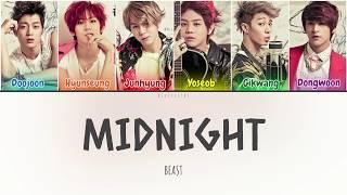 Beast (비스트) - Midnight (별 헤는 밤) (Color Coded Lyrics Han/Rom/Eng/가사)