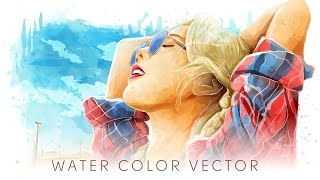 Taeyeon watercolor vector illustration