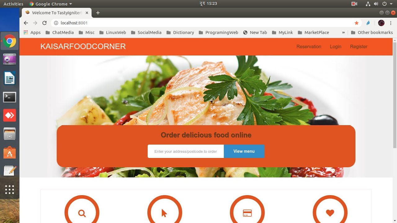 I will do Online Food Ordering  System (TastyIgniter) setup in any Linux distro