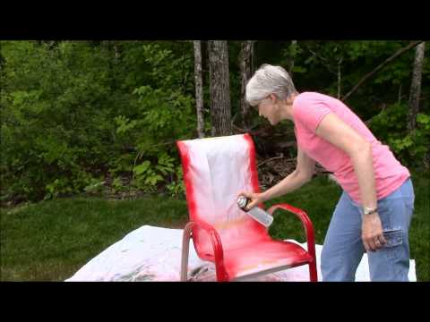 Spray Paint Outdoor Chairs Sunset Red -
