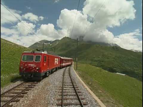 World railways. Switzerland. Glacier Express_3. Andermatt - Disentis
