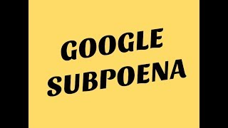 "Google Subpoena and the ""Notice to Consumer"""