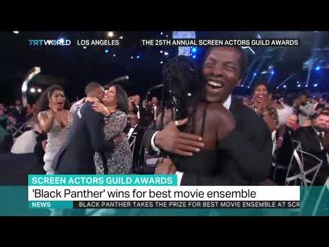 'Black Panther' wins SAG award for best movie ensemble