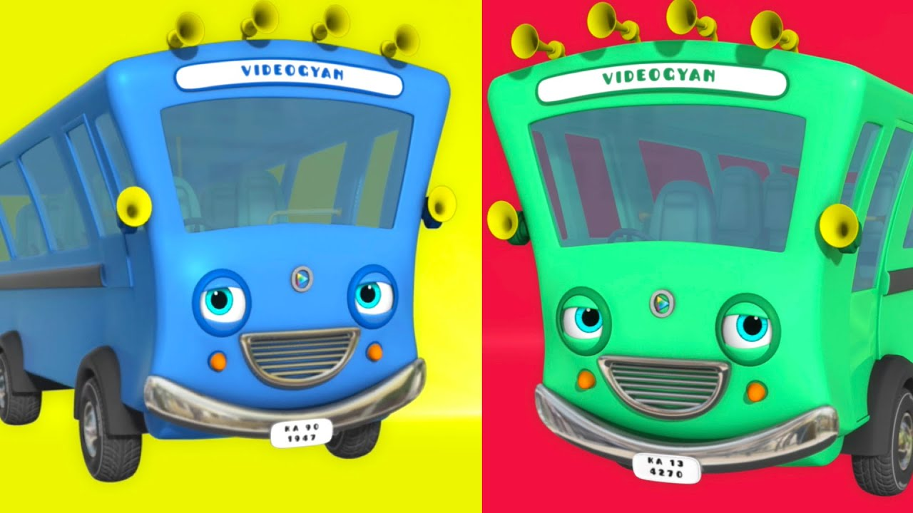 Ten Little Buses - Wheels On The Bus And More   Nursery Rhymes & Kids Songs   Baby Ronnie Rhymes