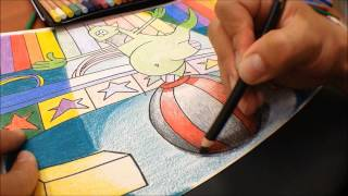 Técnica de dibujo y coloreado: Volumen, luz y sombra