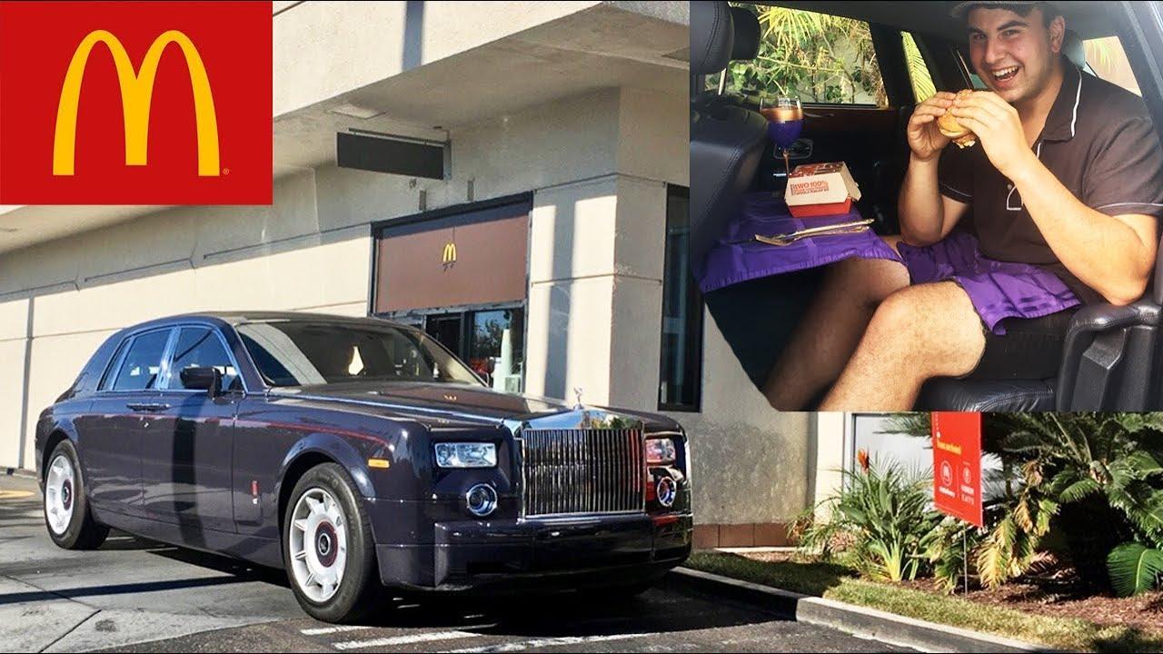 Chauffeured In ROLLS ROYCE Thru McDonalds Drive Thru