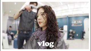 vlog. 아이폰 11pro로 찍은 브이로그, 방어회와 청하 6병🐟, 코인 노래방, 인생 처음 도전한 히피펌