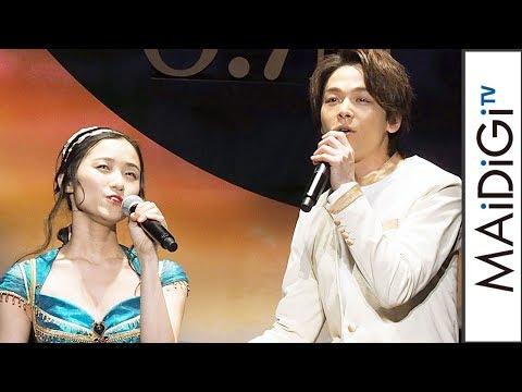 中村倫也、「アラジン」主題歌生歌唱で緊張 「尋常じゃないくらい汗を…」