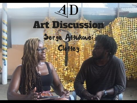 Serge Attukwei Clottey. Art Discussion with Adelaide Damoah