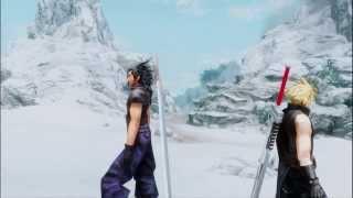 Skyrim Zack Fair And Cloud Strife Vs Sephiroth Mod