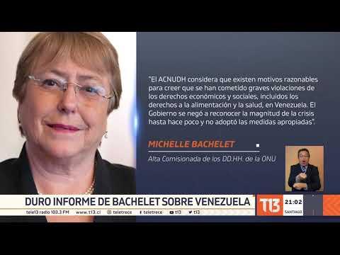 Informe de Bachelet denuncia torturas e impunidad en Venezuela