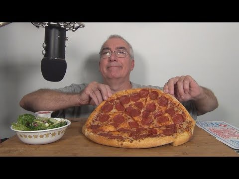 ASMR Eating Dominos Pepperoni Pizza Whispering