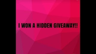 💖I WON A HIDDEN💖 GIVEAWAY💖!!!! SEPTEMBER 04 2017