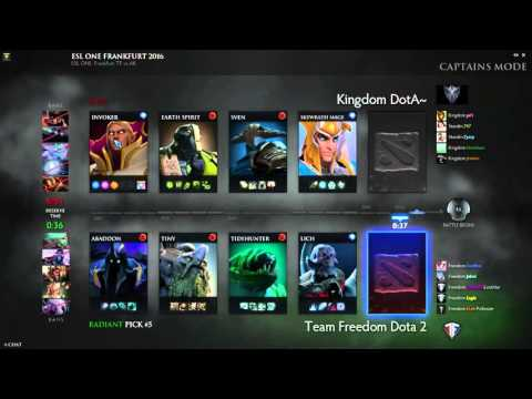 ESLOne Team Freedom (1) vs Animal Kingdom (1) Bo3 Darklight y DFettered
