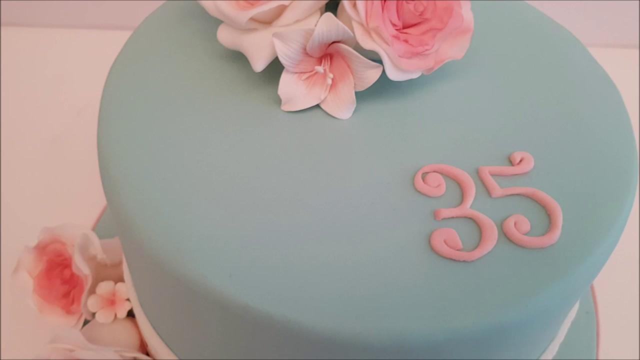 Wonderbaar Vintage bloemen taart -Vintage flower Cake - YouTube UG-91
