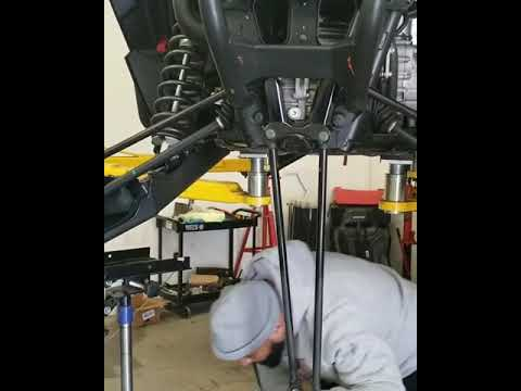 Undercarriage cleaning on a Polaris