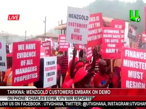 Aggrieved Menzgold customers stage demo in Tarkwa