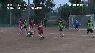 ミュンヘン vs 中慶立合同(後半)~2018年秋季大学ハンドボールリーグ(女子) 2018年11月18日