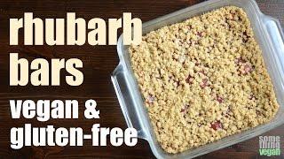 rhubarb bars (vegan & gluten-free) Something Vegan