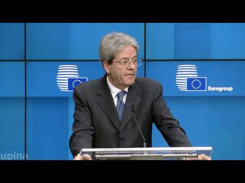 Paolo GENTILONI Eurogroup Meeting Press Conference