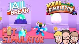 Roblox Pet Simulator Tier 11 Egg | Jailbreak | Mining Simulator | Family Friendly Gaming Live Stream