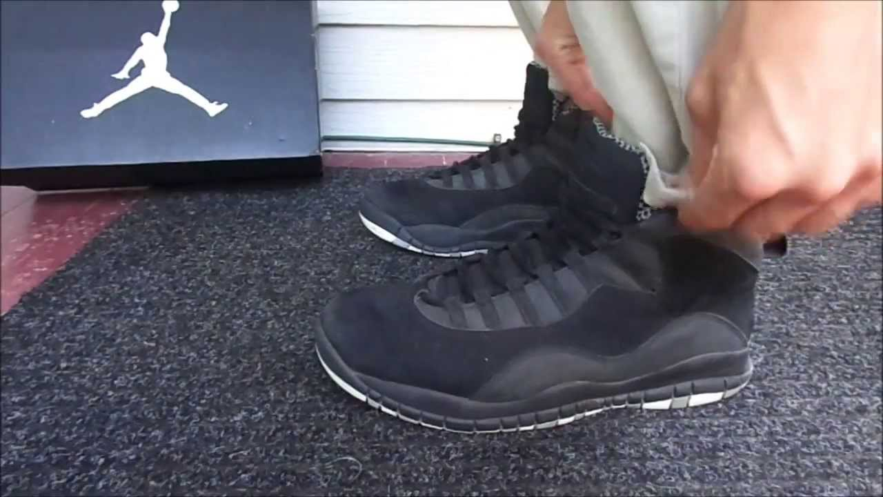 Air Jordan 10 Retro Stealth Black shoes
