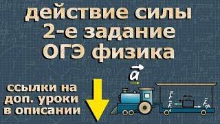 ФИЗИКА ОГЭ подготовка 2 задание ДЕЙСТВИЕ СИЛЫ