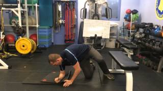 Bunkie with Knee Bent and Hip Internal Rotation