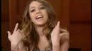 miley ray cyrus live with regis and kelly interveiw 2 20 06