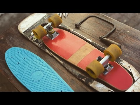 How to Make a Wooden Penny Board | DIY skateboard