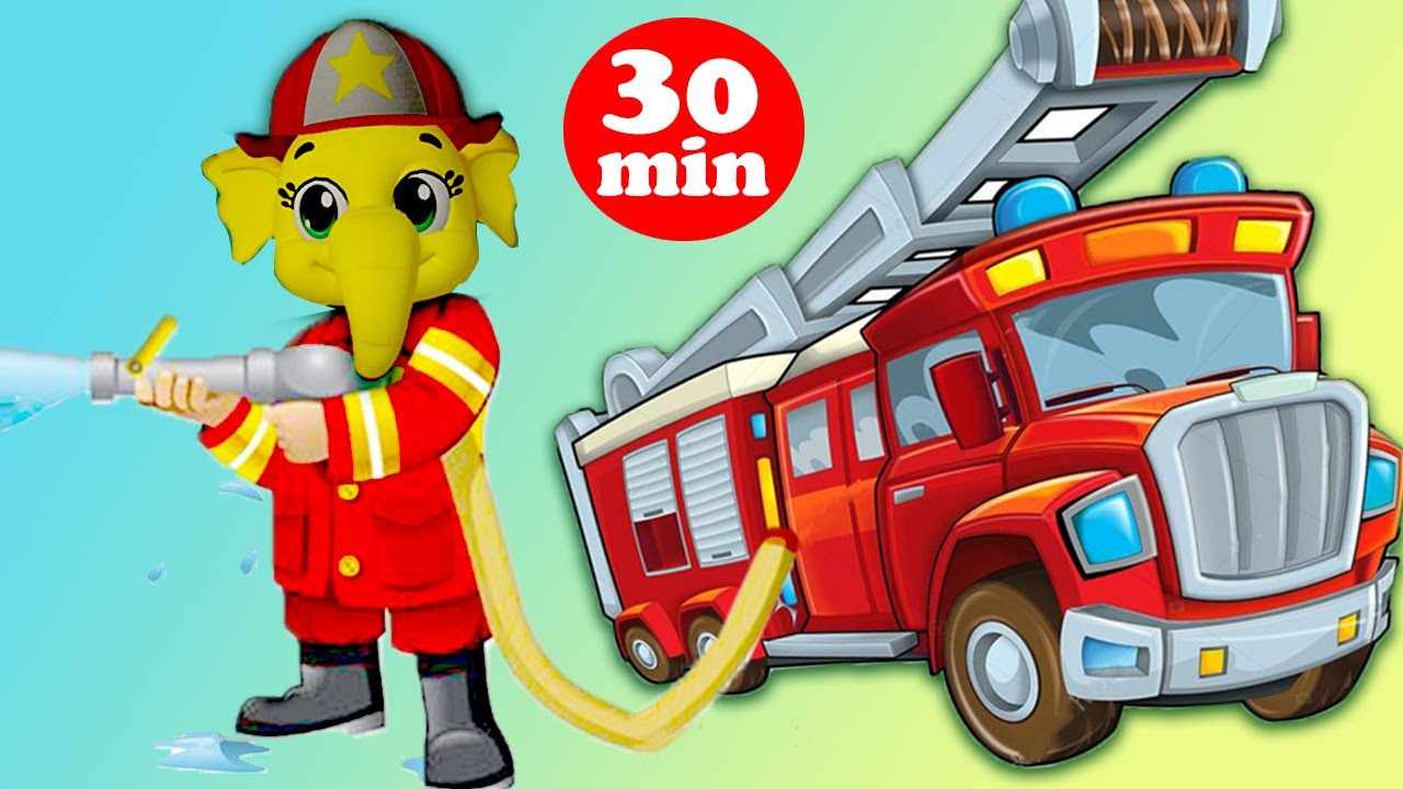 Fire Engine Police Song | Fire Truck Rescue Team + More Nursery Rhymes & Kids Song | Baby Songs