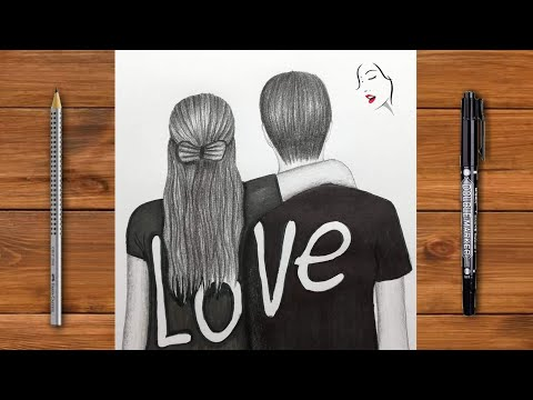 """""""A Girl And Boy Romantic Lover's Couple With Hugging"""" 
