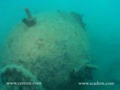 Underwater british WW2 mine