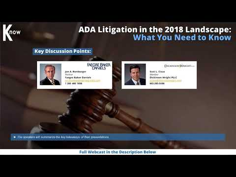 ADA Litigation in the 2018 Landscape