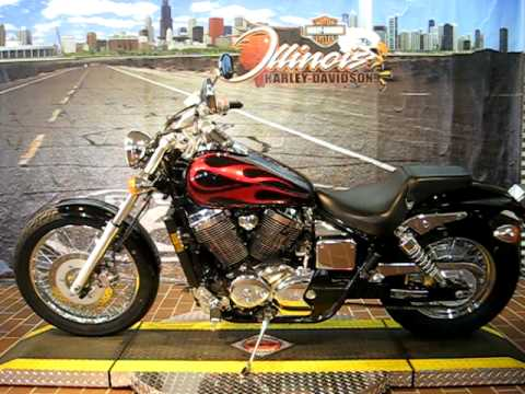 Awesome 2005 Honda Shadow Spirit 750 Candy Dark Red Flame U0026 Black   YouTube
