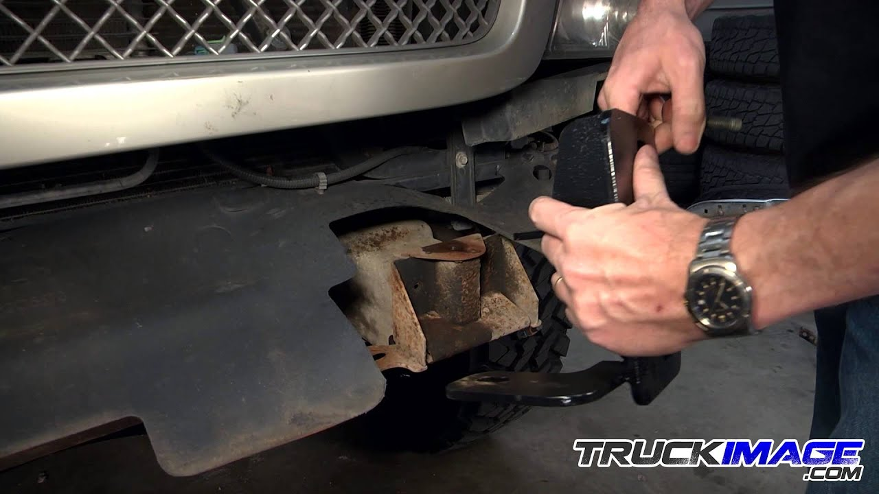 2007 chevy tahoe parts diagram aem uego sensor wiring iron cross hd front bumper install on 2004 silverado - truckimage.com youtube