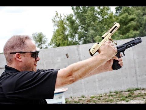 At the Range: Desert Eagle .50AE vs .44MAG - YouTube