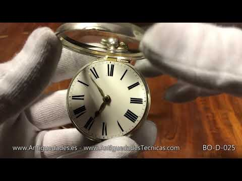 Antique Silver Two-Casing Verge Pocket Watch. Richard  Shrivell. England, 1846