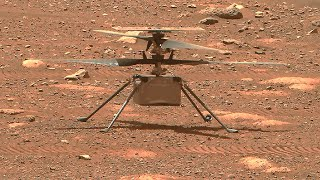 On april 9, 2021 nasa demonstrated video footage mars helicopter ingenuity during rotor blades spinning test and hi-res first image from ingenuity. launch...