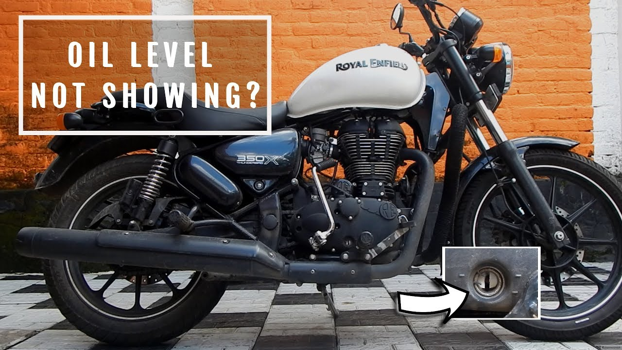 How To Check The Engine Oil Level Of Royal Enfield Youtube