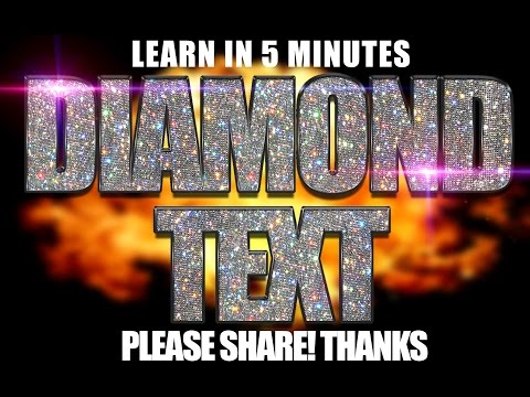 Mixtape Cover Art Design - Photoshop CC Tutorial PSD Diamond Text thumbnail