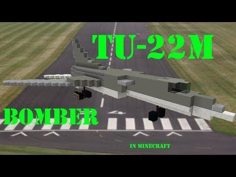 Tupolev TU-22m supersonic bomber in Minecraft
