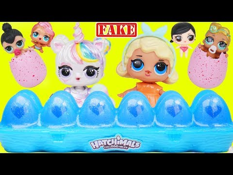 Custom LOL Surprise Doll Open Hatchimals with Lil Luxe Pets for Lil Sisters + Customized DIY Unicorn