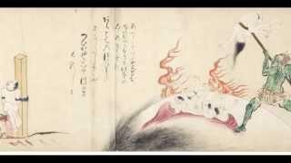 地獄草紙:Japanese old (15th-century) Animation:averitable inferno