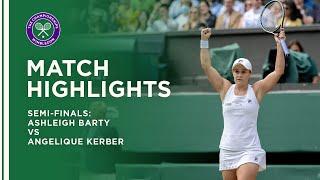 Ashleigh Barty vs Angelique Kerber | Semi-Final Highlights