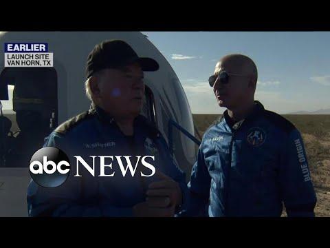 Blue Origin crew returns from edge of space
