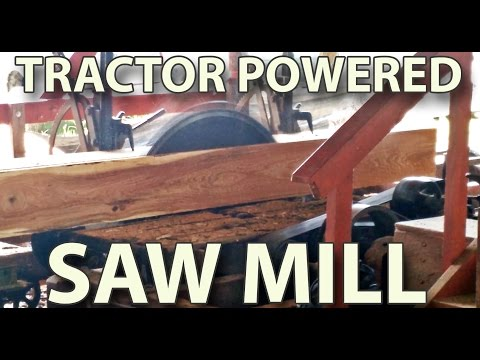 Tractor powered sawmill - PTO sawmill from late 1800's - Tuckahoe steam and gas show