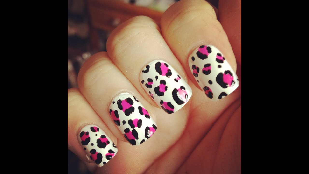 U as animal print de color rosa pink youtube for Como hacer decoracion de unas